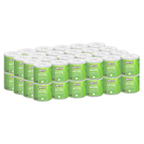 Marcal - MRC6079 Toilet Paper 100% Recycled - 2 Ply White Bath Tissue, 336 Sheets Per Roll - 48 Rolls in line with Case Green Seal Certified Toilet Paper 06079