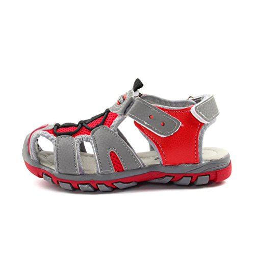 Kids Flip B red New Zipper Ankle Beach Boy Closed up Outdoor Flats Sandals Chelsea Flops Sports Shoes Boots Girl Toe Warm Lace Baby Sneakers VEMOW Child Summer Toddler 5axFwqF
