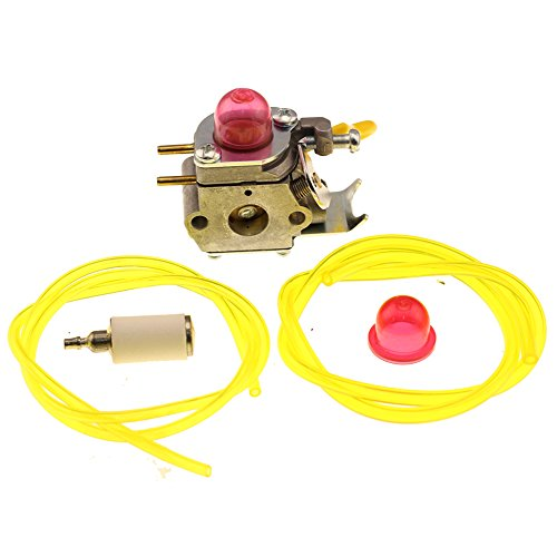 HIPA 530071752 530071822 545081808 Carburetor with Primer Bulb Fuel Filter Line Hose Tube for Poulan Craftman Weed Eater String - Poulan Attachment Brushcutter