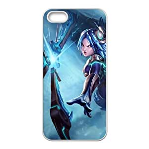iPhone 5 5s Cell Phone Case White League of Legends Frostblade Irelia LWY3584809KSL