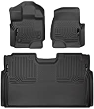 Husky Liners 94041 Black Weatherbeater Front & 2nd Seat Floor Mats Fits 2015-19 Ford F-150 SuperCrew