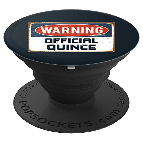 Quinceanera Official Quince 15th birthday gift - PopSockets Grip and Stand for Phones and Tablets