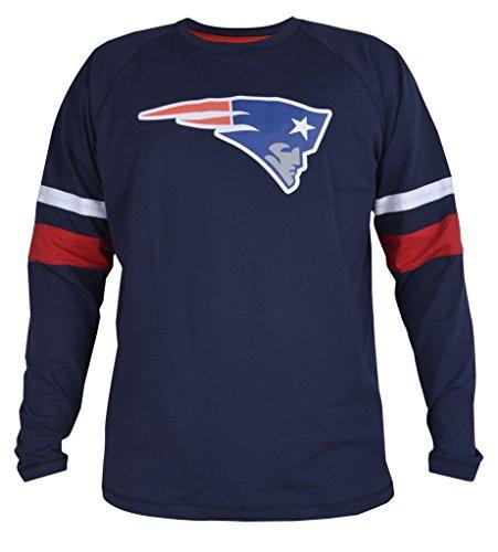 Mens Patriots Athletic Contrast Cotton T-Shirt - Navy XXL