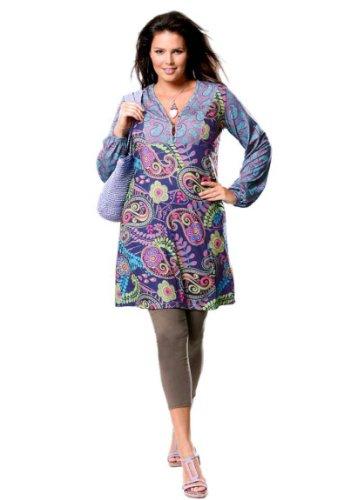 Your Life your Fashion Damen-Kleid Tunikakleid bunt in Größe 48 Mehrfarbig