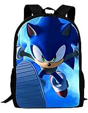 So-nic The Hedgehog Travel Laptop Backpack School Student Bookbag College Bags