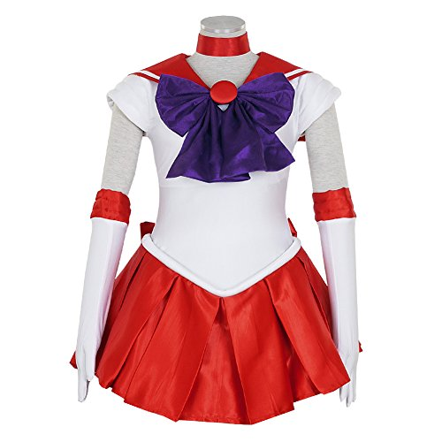 Sailor Moon Costume Man (CG Costume Women's Sailor Moon Sailor Mars Rei Hino Dress Cosplay Costume XXLarge)