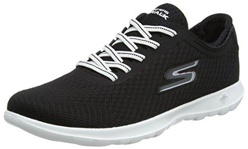 Black Skechers Zapatillas White Impulse Negro Lite Mujer Go Walk para wx8HBFq
