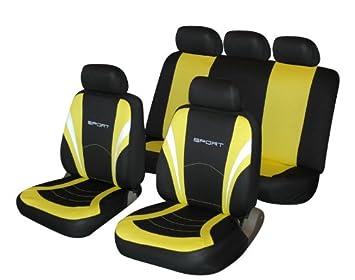 Seat Ibiza Yellow and Black Sports Style Car Seat Covers: Amazon.co