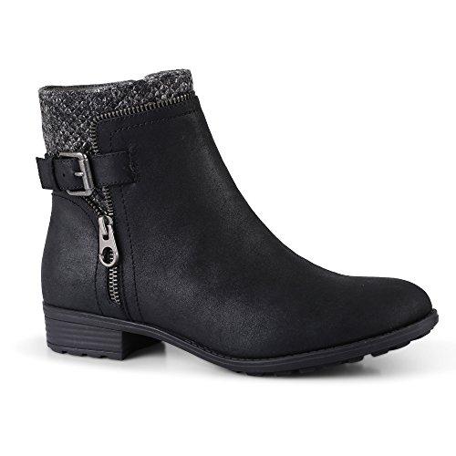 Click Chelsea 3 Chaussures Flat Taille 8 Uk Cubain Talon Boucle Block Zip Womens Bottes Femmes Cheville pqTf6zdq