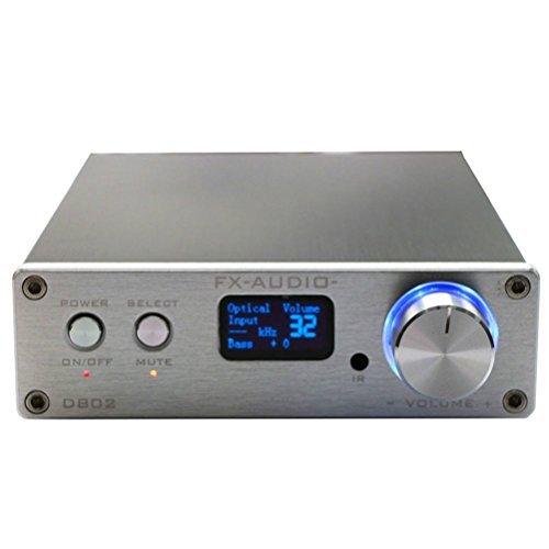 FX Audio D802 2x80W 192KHz Digital Remote Power Amplifier silver by FeiXiang