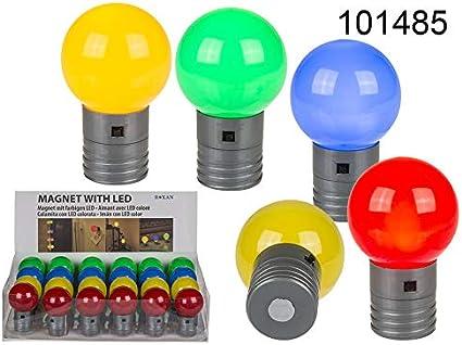 Imán de plástico, pelota coloreada, con LED pilas incluidas CA. 4 ...