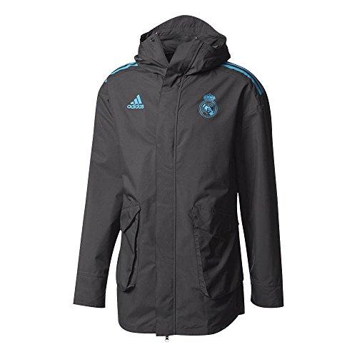 (adidas 2017-2018 Real Madrid EU Allweather Jacket (Black))