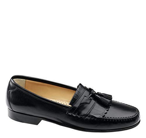 - Johnston & Murphy Men's Breland Kiltie Tassel Black Calfskin 12 M US