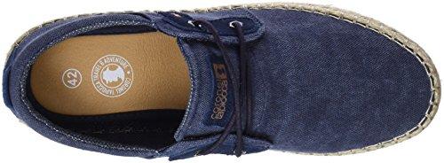 Coronel Zapatos 0 para Jeans Tapioca Rafia Azul Derby Cordones Esparto Jeans de Caballero Hombre TcrfTqOW