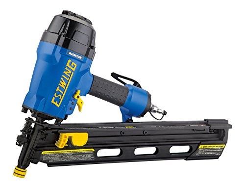 Estwing EFR2190 - 21 Degree Full Head Pneumatic Framing Nailer Ergonomic & Lightweight Nail Gun with Depth Adjust, Select Fire Trigger & Removeable No-Mar Tip Clipped Head Stick Nailer