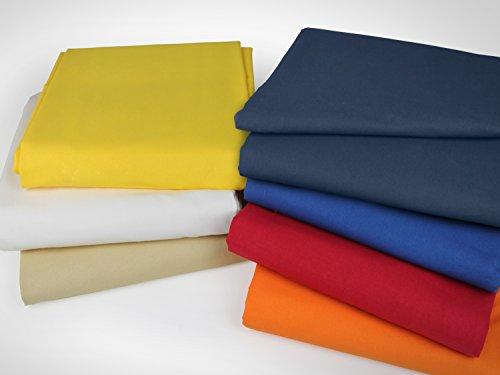klassisches Betttuch ohne Gummizug - Einheitsgröße von ca. 150 x 250 cm in 7 Uni-Farben erhältlich, royalblau