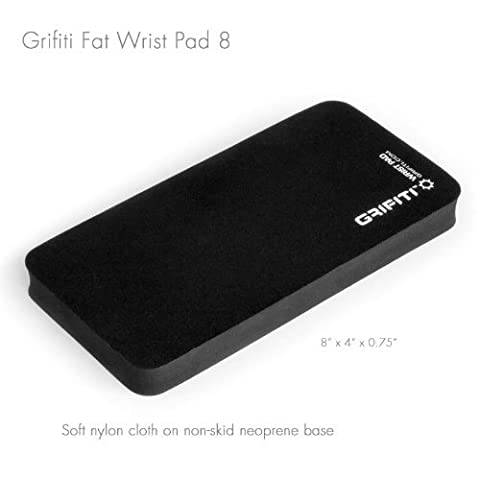 Grifiti Fat Wrist Pad 8 Is a 4 X 8 X 0.75 Inch Mouse Wrist Rest and Wrist Rest for Keypads, Numberpads, Trackpads, Trackballs, Adding Machines, Printing Calculators Including Filco, HP, Kensington, Logitech, Microsoft, Apple, Perixx, Casio, Canon, Sharp, Atrira (BLACK NYLON)