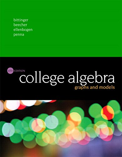 College Algebra: Graphs and Models Plus MyLab Math with Pearson eText -- Access Card Package (6th Edition)