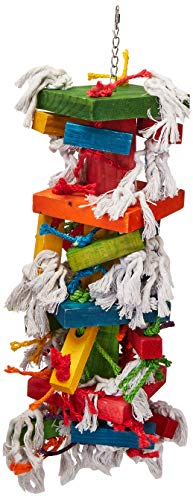 Paradise Knots &Blocks Chewing Toy, Colorful & Entertaining, Keeps Birdy Happy, X-Large, 22