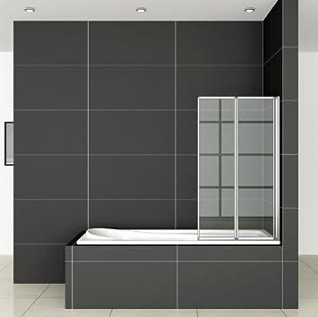 120 x 140 cm Mampara – Mampara de 2 piezas ducha pared bañera plegable pared ff12 – 2: Amazon.es: Bricolaje y herramientas