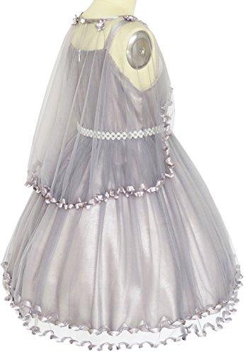Cintura Ragazze Perla 14 3 Scialle Vestono Cerimonia Dimensioni Di Nuziale Partito Spettacolo E Grigio Fiore Anni Di Vestito tdqHnwtB