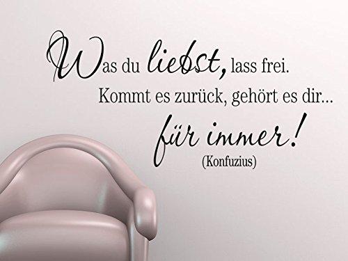 Klebeheld® Wandtattoo was Du liebst Lass frei (Farbe türkis Größe 120x58cm) B012BIWU5Q Wandtattoos & Wandbilder