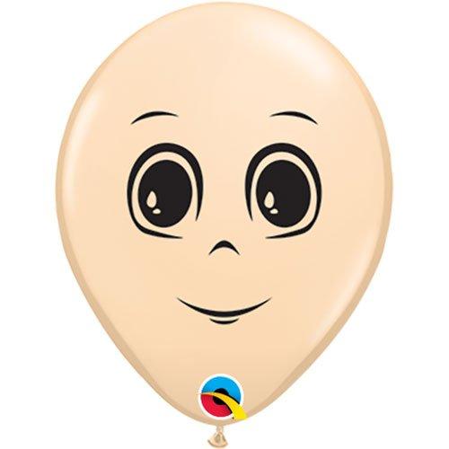 (Qualatex Masculine Face 16 Inch Latex Balloons (Blush, 10)