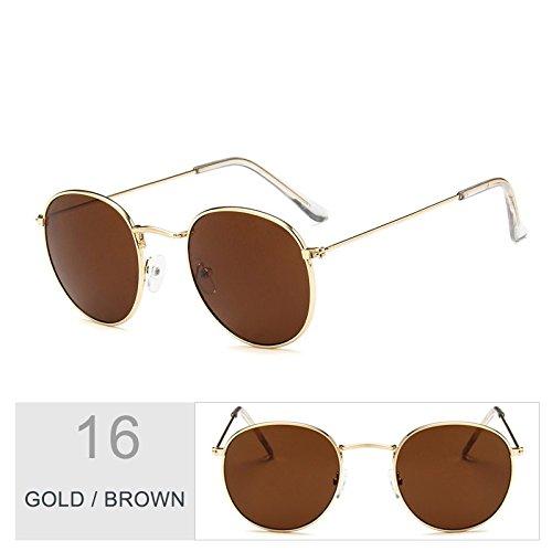 Gold De Para Hombres Bastidor Plata Del Unas Oval Morado Metal Sol Brown Gafas En Gafas Uv400 Steampunk Enormes TIANLIANG04 De Sol Mujeres wtACqRx4R
