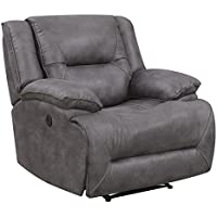 Bradford Living KPI003006 Brookline, Power Recliner, Grey