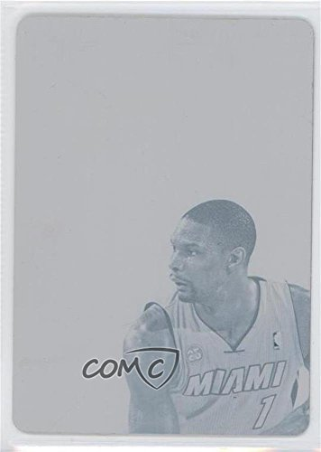 Chris Bosh #1/1 (Basketball Card) 2012-13 Panini Flawless - Transitions Autographs - 2013-14 National Treasures Printing Plate Cyan #11 -