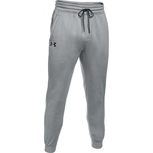 Under Armour Mens Storm Armour Fleece Joggers, True Gray Heather/Black, Large