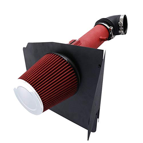 Price comparison product image For 2012-2015 Chevy Camaro (V6 3.6L Only) 3.5 Inch Aluminum High Flow Air Intake Kit Red Heat Shield Pipe with Filter