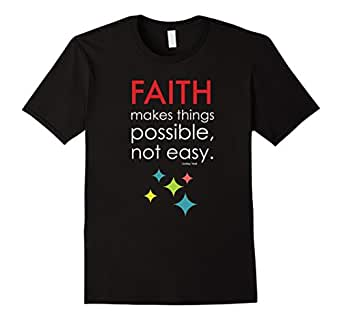 Men's Faith Makes Things Possible, Not Easy. 3XL Black
