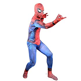 - 41Wh2AesYWL - 2017 New Justice Spider Man Suit Boys Cosplay Halloween Costume Kids