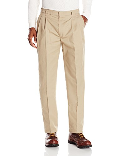 Red Kap Men's Pleated Twill Slacks, Khaki, 34x30 - Red Kap Twill Slacks