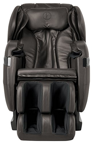 NEW 2019 BEST VALUED FOREVER REST FR-5KsL PREMIER L -TRACK SHIATSU, ZERO GRAVITY MASSAGE, SPACE SAVING CHAIR WITH FOOT ROLLING, BUILT IN HEAT, STRETCH & SWING MODE (5kls brown)
