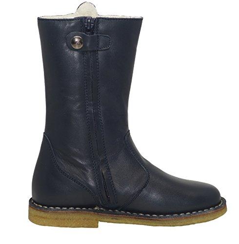Zecchino dOro A06-4657 Stiefel Boots mit 3D Blumen Applikationen Blau (nachtblau 150)