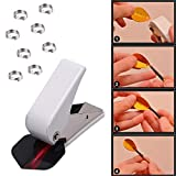 JUSTDOLIFE Dart Flight Punch Flight Hole Punch Tool Hole Puncher Hand Punch with 50 O Rings