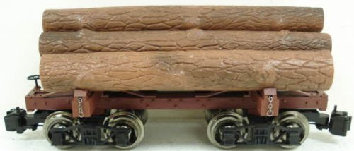 Bachmann Industries (BACAC) Painted, Unlettered Flat Car with Logs - Large