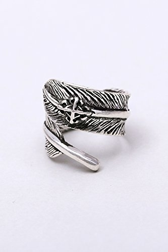 Generic Joe Chu Chuan Zhao Liying same paragraph retro ring women girls lady personality imitation Thai silver feather index finger ring ring ring opening