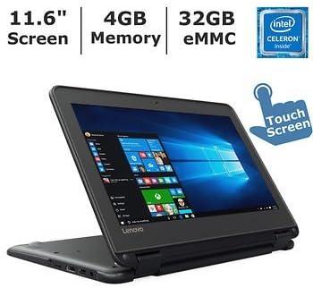 Amazon.com: Lenovo N23 11,6 pulgadas Pantalla táctil 2 en 1 portátil empresarial Intel Celeron N3060, 4 GB de memoria, 32 GB eMMC, Windows 10 Professional, Negro: Computers & Accessories