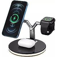 Dock Station sem fio (Wireless) para Apple iPhone 8 ao 12 (3 em 1) com Cabo e Adaptador Turbo 3.0 15W + 2 Imãs para…