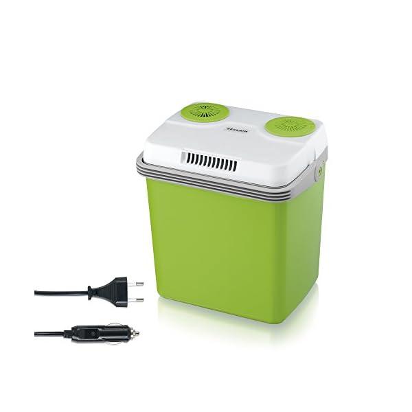 41Wh4KM8HDL SEVERIN Elektrische Kühlbox (20 L) mit Kühl- und Warmhaltefunktion, Auto Kühlbox mit 2 Anschlüssen (Netzteil…