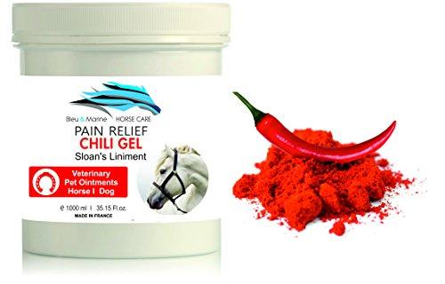 Gel de Chili Caballo 1000 ml Balsamo Caballo Linimento Anti Dolor con Capsaicina
