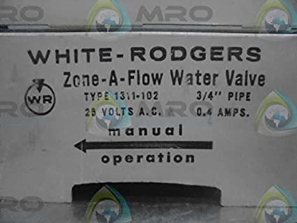 White-Rodgers 1311-102 3-Wire Hydronic Zone Valve, 3/4
