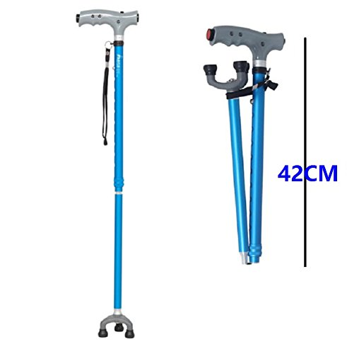 yardsky Hiking Sticks for Women and Men Trekking Poles Collapsible Antishock Lightweight Aluminum Walking Staffs for Outdoor Blue