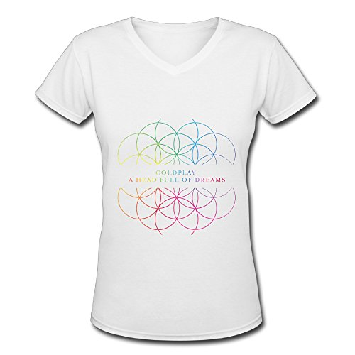 Coldplay A Head Full Of Dreams Tour Logo Women's V Neck Tee Shirt