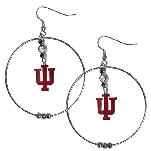 Siskiyou NCAA Indiana Hoosiers 2 inch Hoop Earrings
