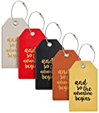 Casmonal Luggage Tags with Full Back Privacy Cover w/Steel Loops (mixed 05 pcs set)