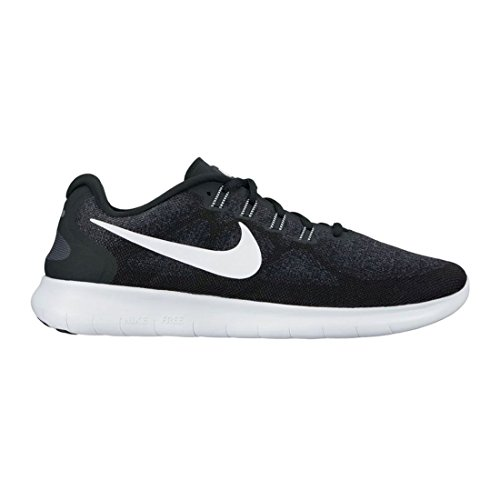 Women's Nike Free RN 2017 Running Shoe Black/White/Dark Grey/Anthracite Size 7 M US